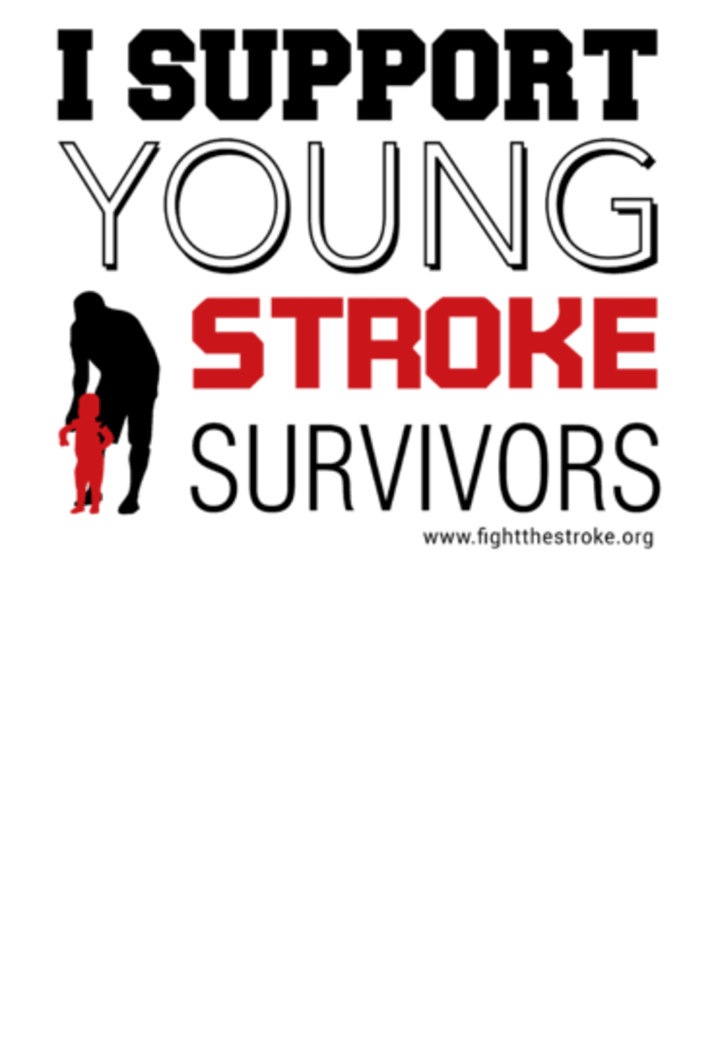 support young stroke survivors typography bianca worth wearing